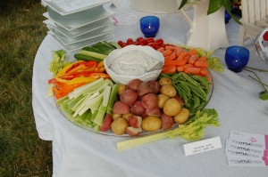 veggies and dip platter